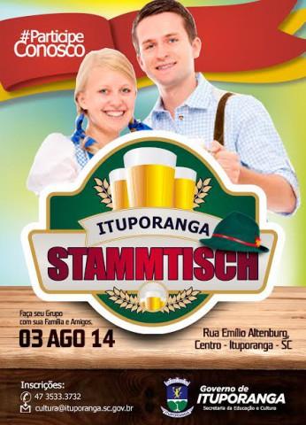 Em agosto tem Stammtisch em Ituporanga