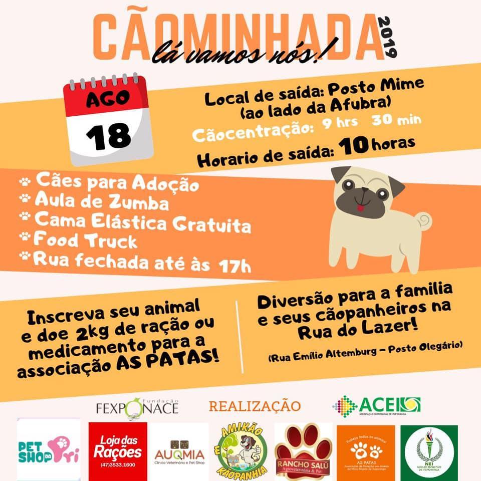 3ª Cãominhada será neste domingo em Ituporanga
