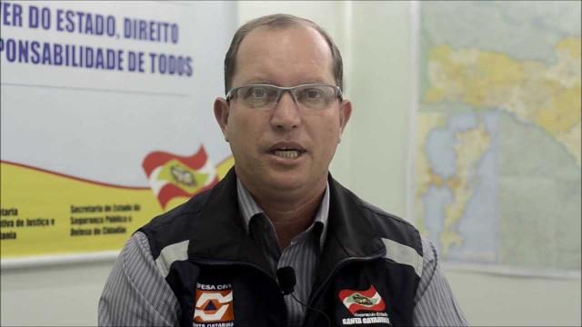 Diretor da Defesa Civil Santa Catarina fala sobre situação das chuvas no Estado