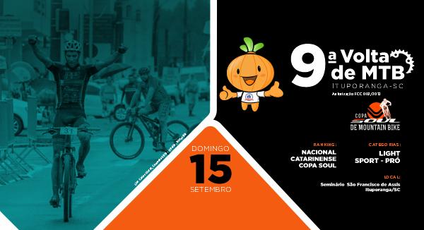 9ª Volta de MTB de Ituporanga já tem mais de 400 inscritos