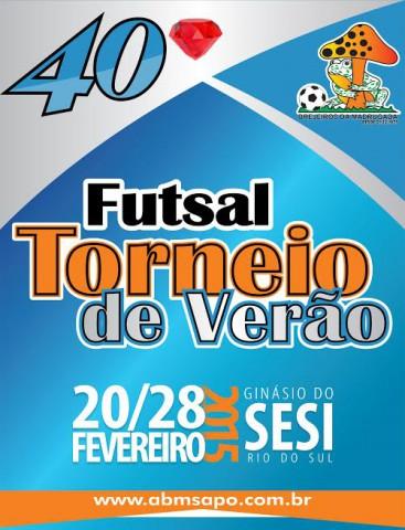 ABM Sapo - Definida data e local do 40º Torneio de Verão de Rio do Sul
