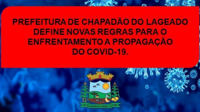 Administração de Chapadão do Lageado define novas regras para enfrentamento a propagação da Covid-19