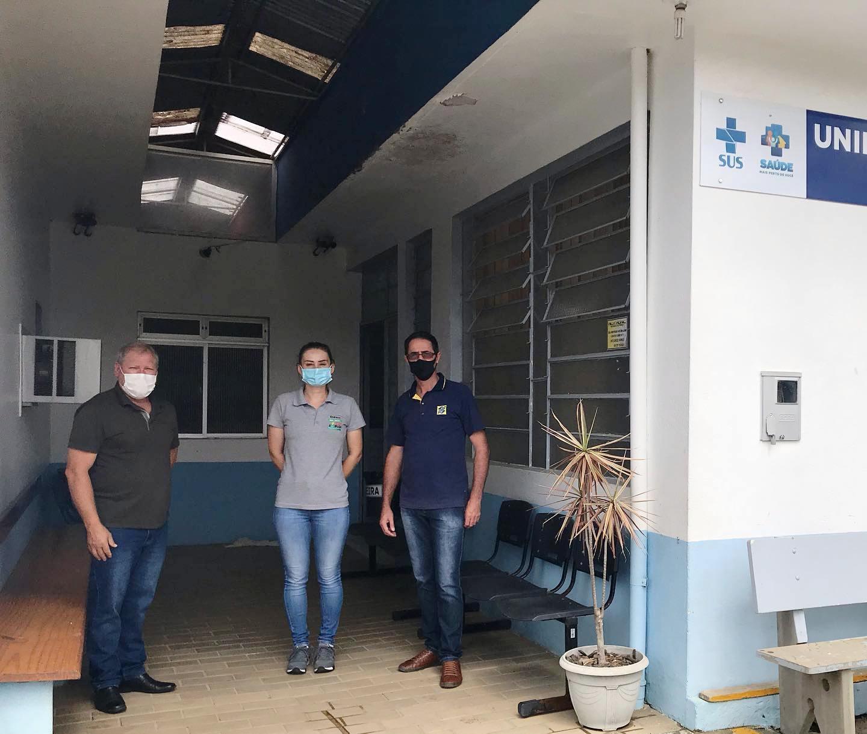 Administração de Imbuia inicia reforma na Unidade Básica de Saúde e retoma pavimentações de ruas