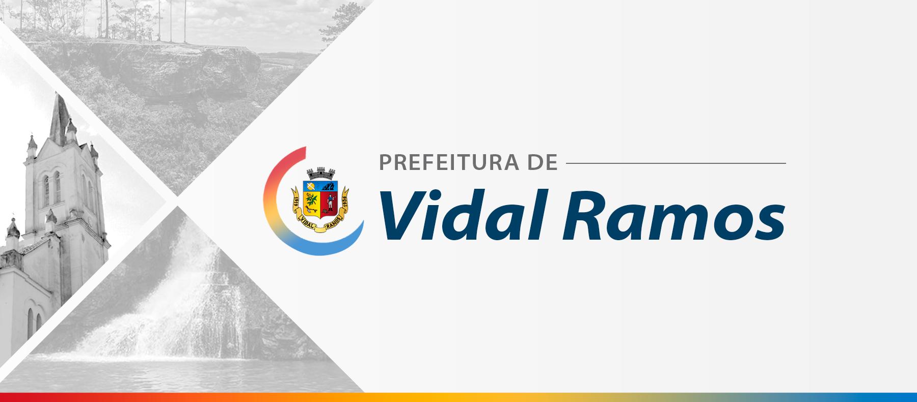 Administração de Vidal Ramos segue obras de pavimentação no Centro da cidade