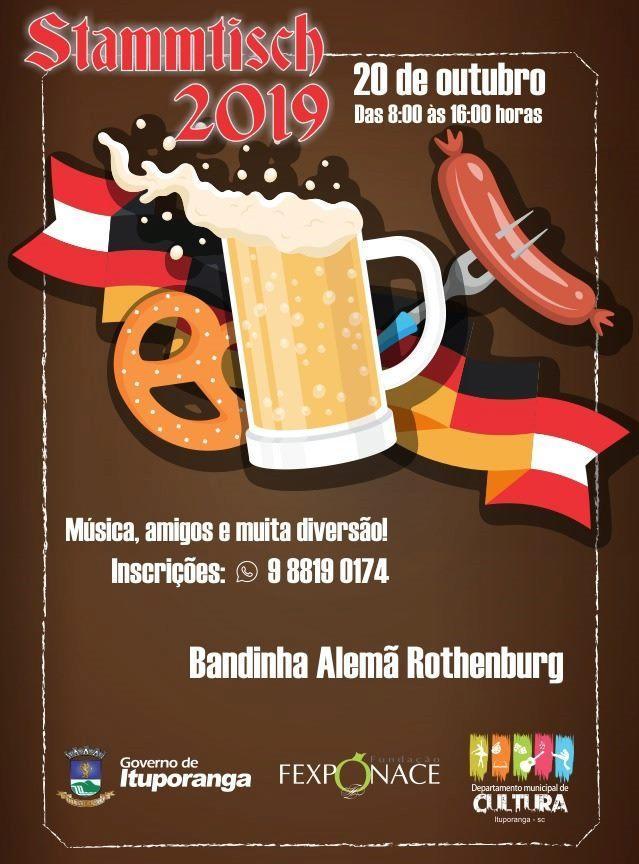 Agenda: Dia 20 de Outubro tem Stammtisch em Ituporanga