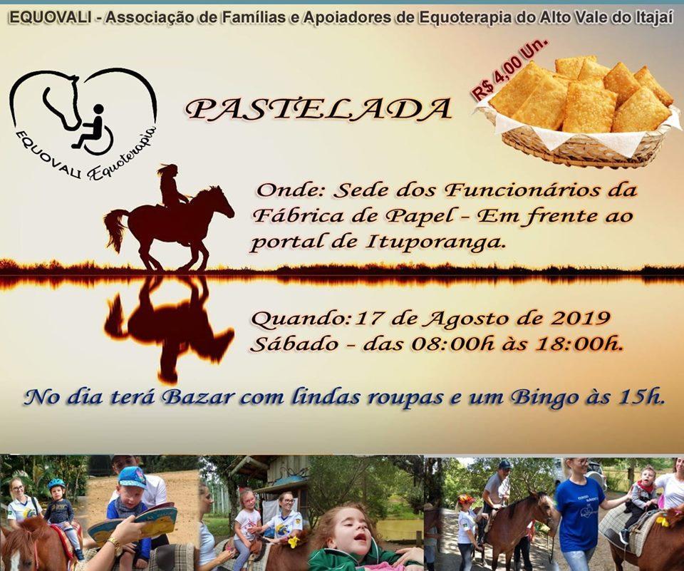 Associação de familiares e apoiadores de equoterapia no Alto Vale promove pastelada em Ituporanga