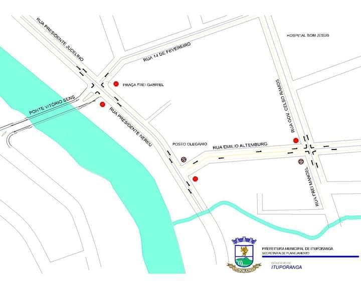 Atenção motoristas: trânsito na área central de Ituporanga sofrerá alterações nesta sexta e sábado