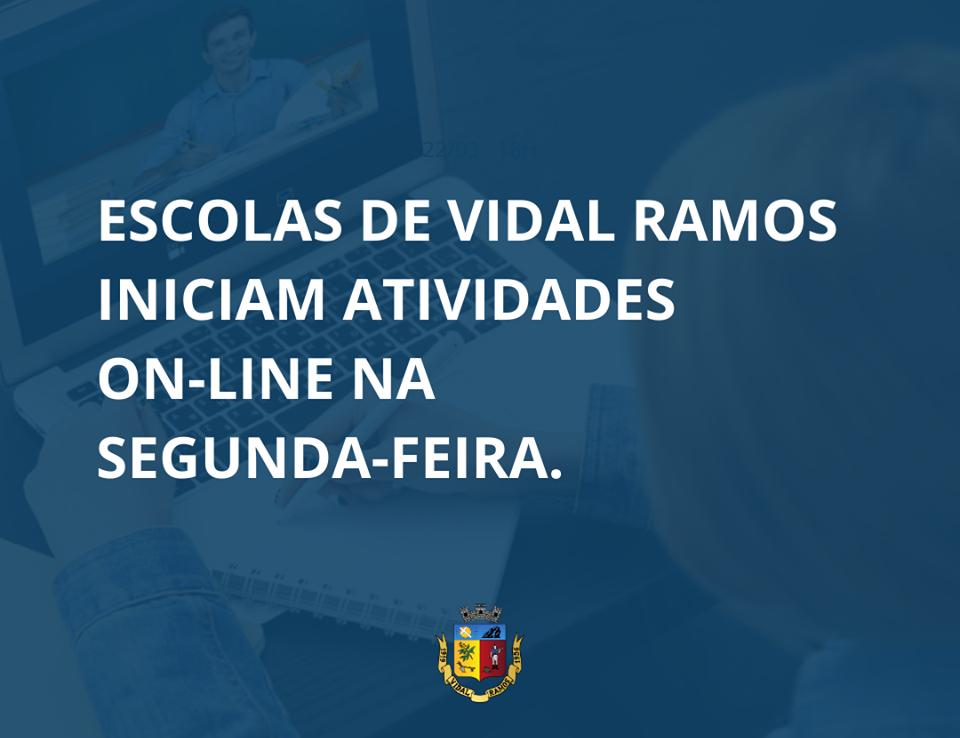 Aulas virtuais serão realizadas na rede municipal de ensino em Vidal Ramos