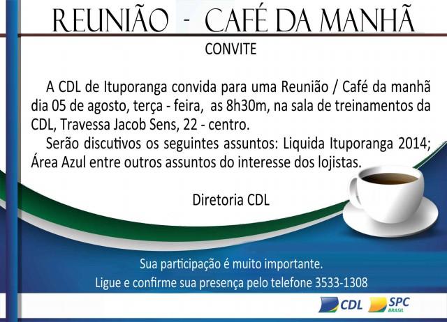 CDL de Ituporanga promove Café da Manhã nesta terça feira