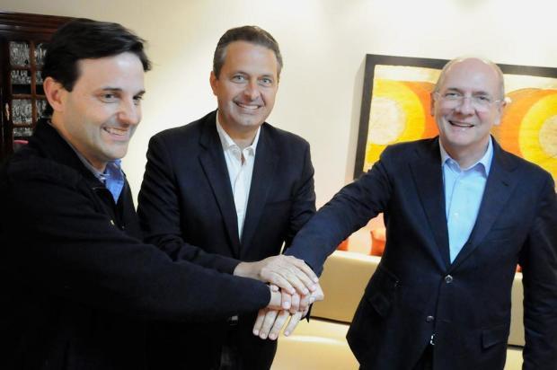 Eduardo Campos se reúne com Bornhausen e Bauer em São Paulo e confirma vinda a Santa Catarina