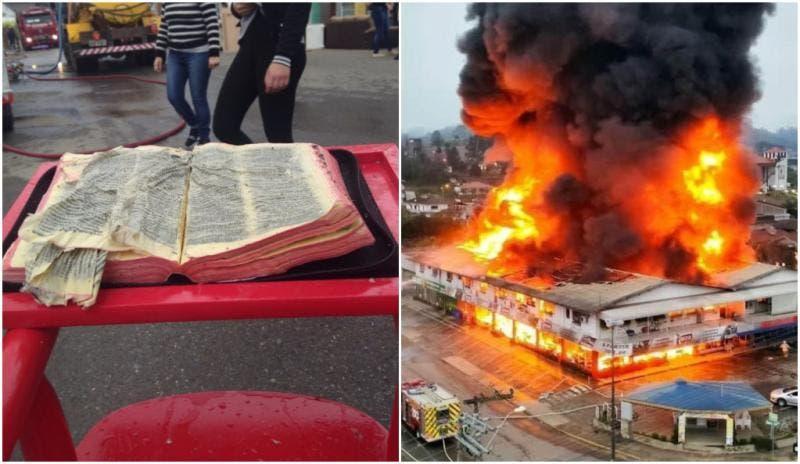 Bíblia resiste a incêndio que destruiu centro comercial em Presidente Getúlio