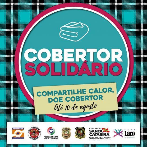Campanha Cobertor Solidário vai distribuir doações aos municípios catarinenses