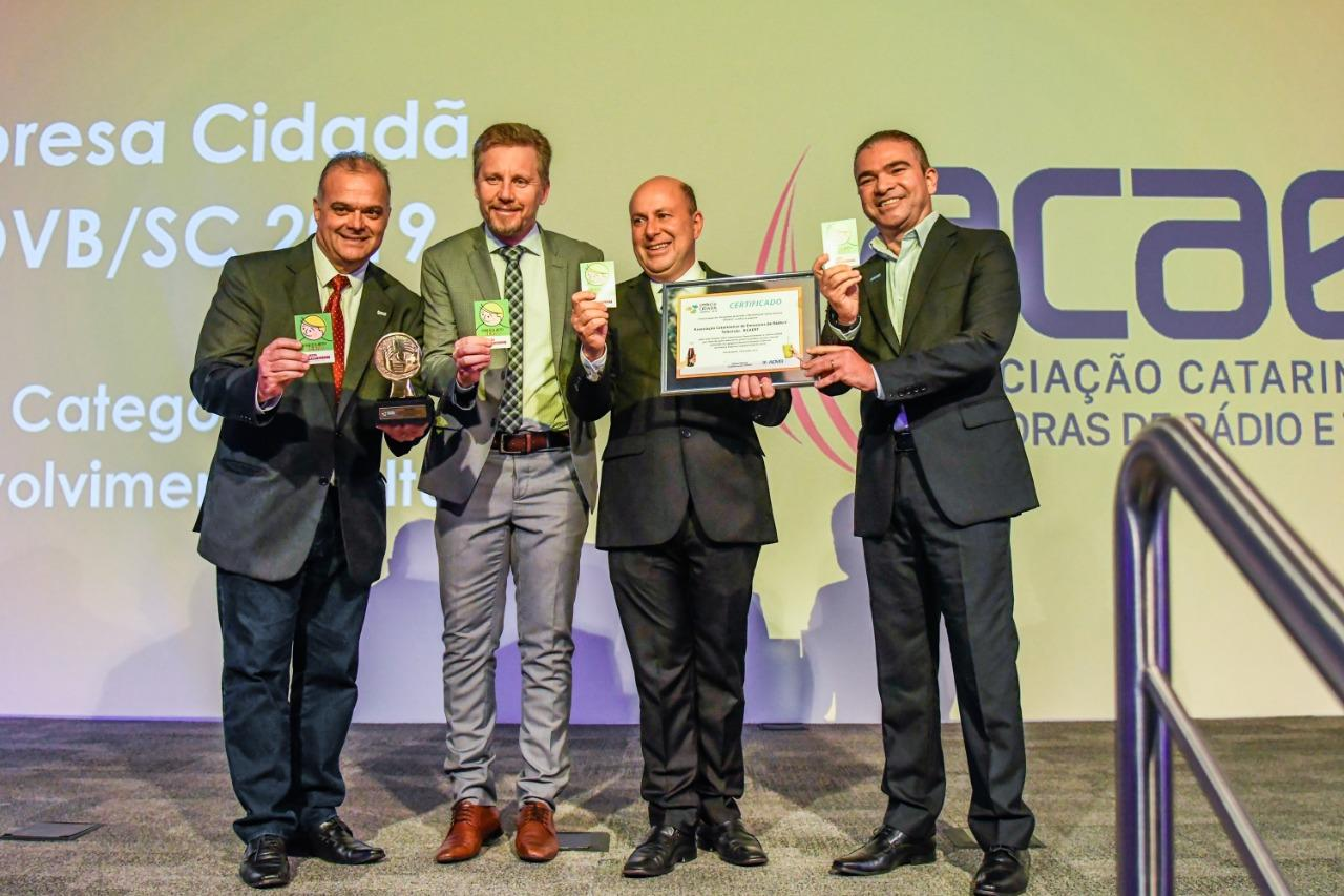 Campanha da ACAERT recebe prêmio que destaca responsabilidade social
