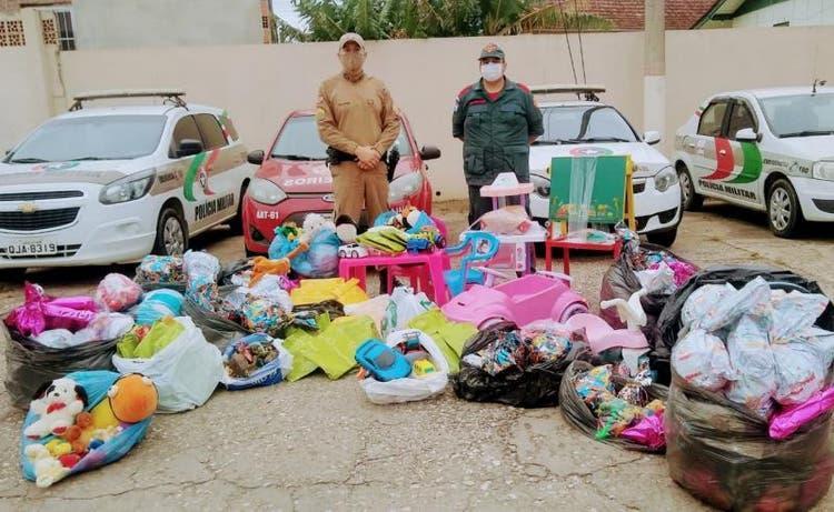 Campanha da PMSC arrecada e distribui quase 20 mil brinquedos