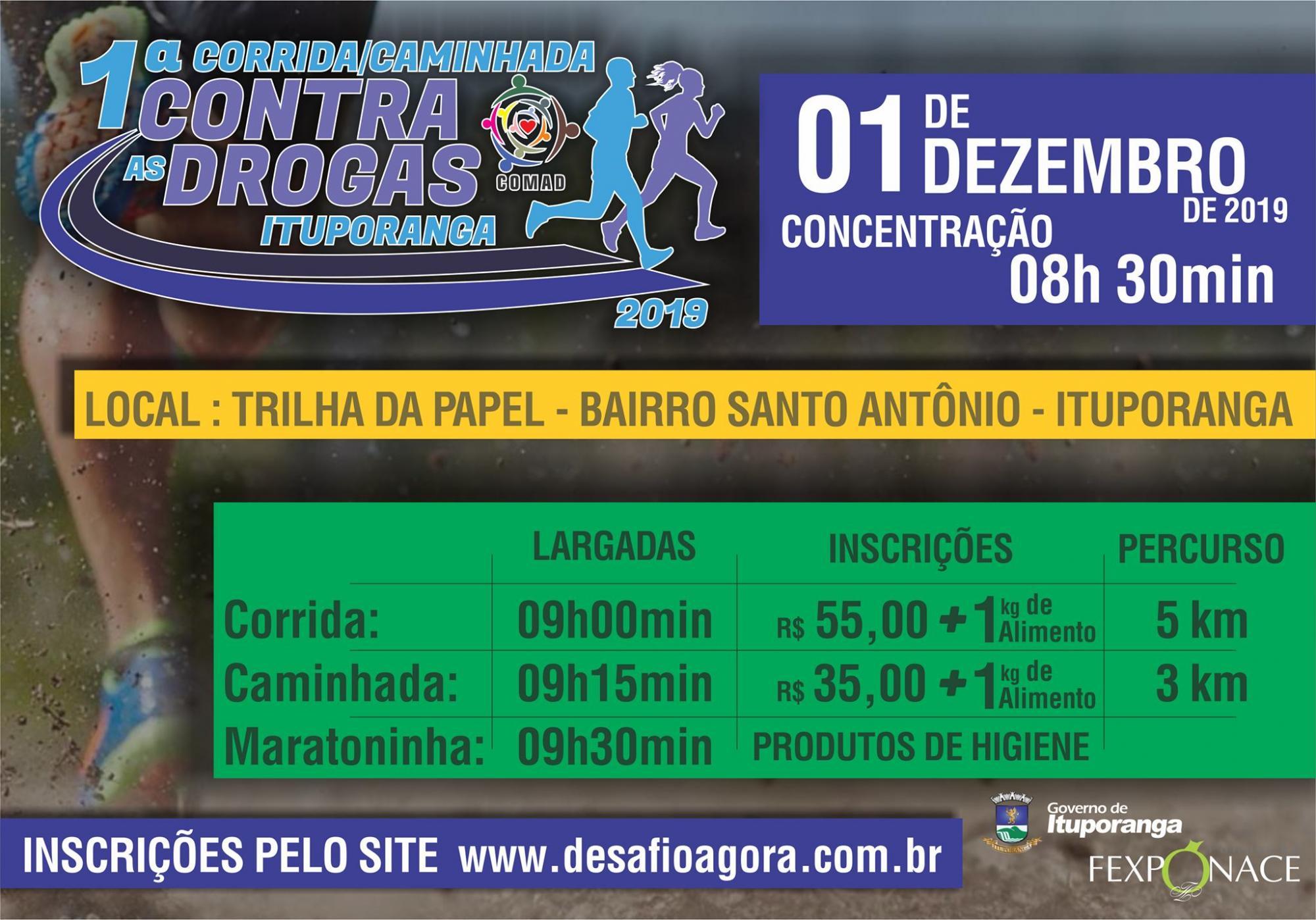Comad de Ituporanga promove corrida e caminhada contra as drogas