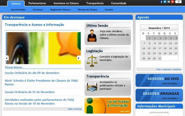 VIDAL RAMOS - Câmara de Vereadores devolve dinheiro a Administração Municipal