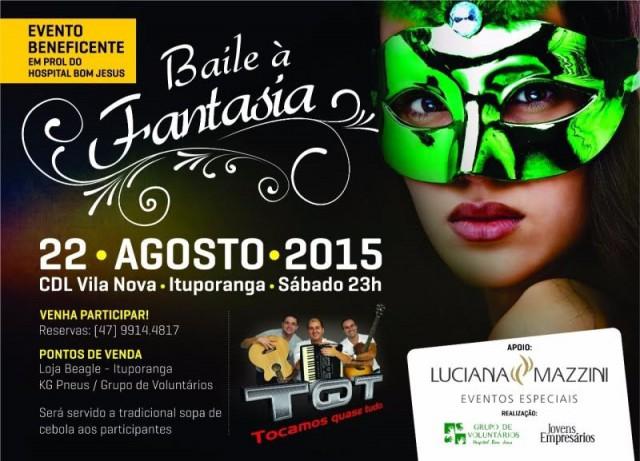 Baile à Fantasia será realizado em agosto em prol do Hospital Bom Jesus
