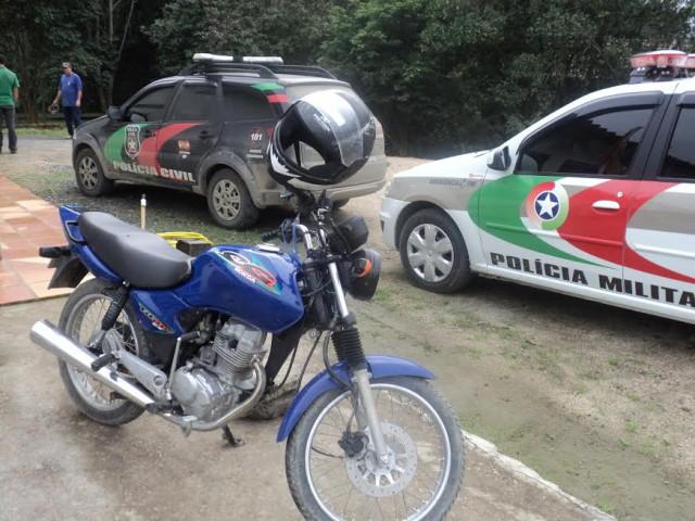 Moto furtada é recuperada em Atalanta