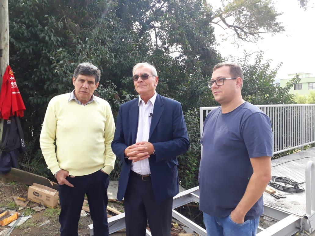 Deputado Estadual Silvio Dreveck (PP) visita obra em Ituporanga