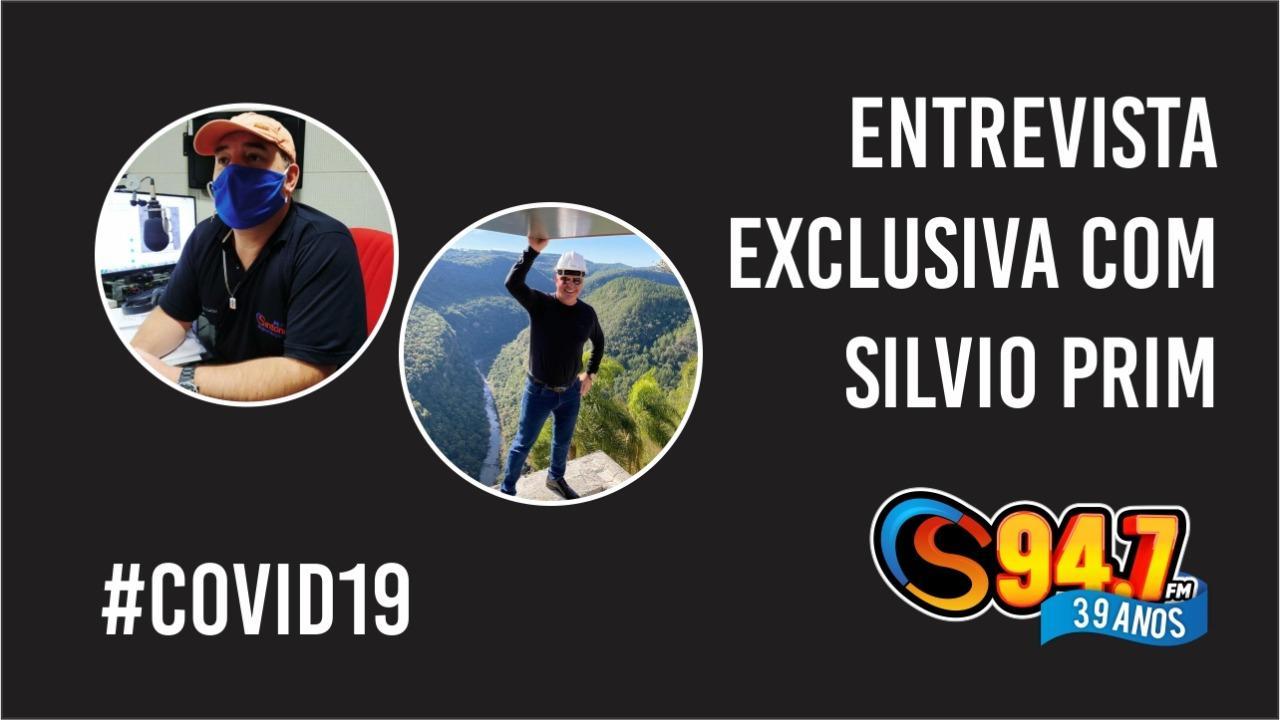 EXCLUSIVO: Empresário Silvio Prim se emociona ao falar sobre recuperação da COVID-19