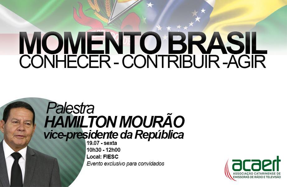 Hamilton Mourão faz palestra em Florianópolis