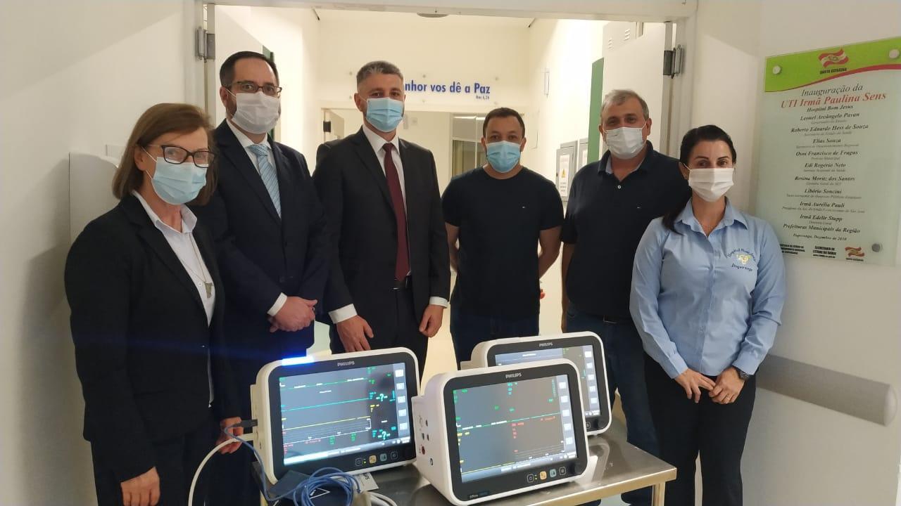 Hospital Bom Jesus adquire monitores e EPI's com destinação de recursos da 2ª vara da Comarca de Ituporanga