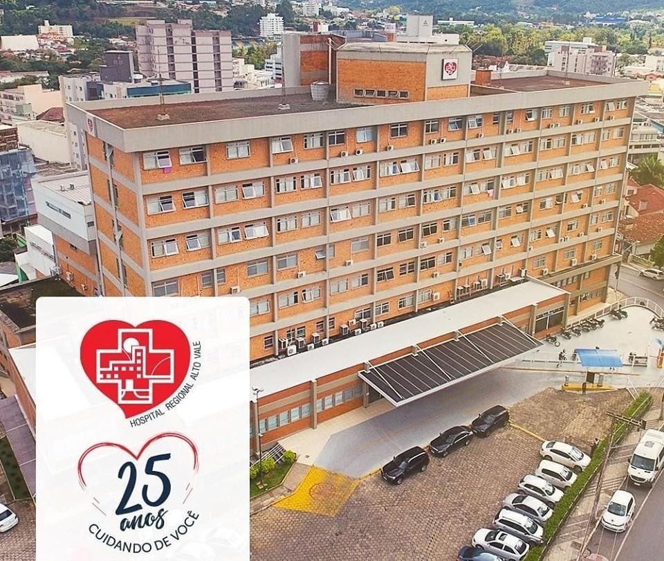 Hospital Regional Alto Vale completa 25 anos