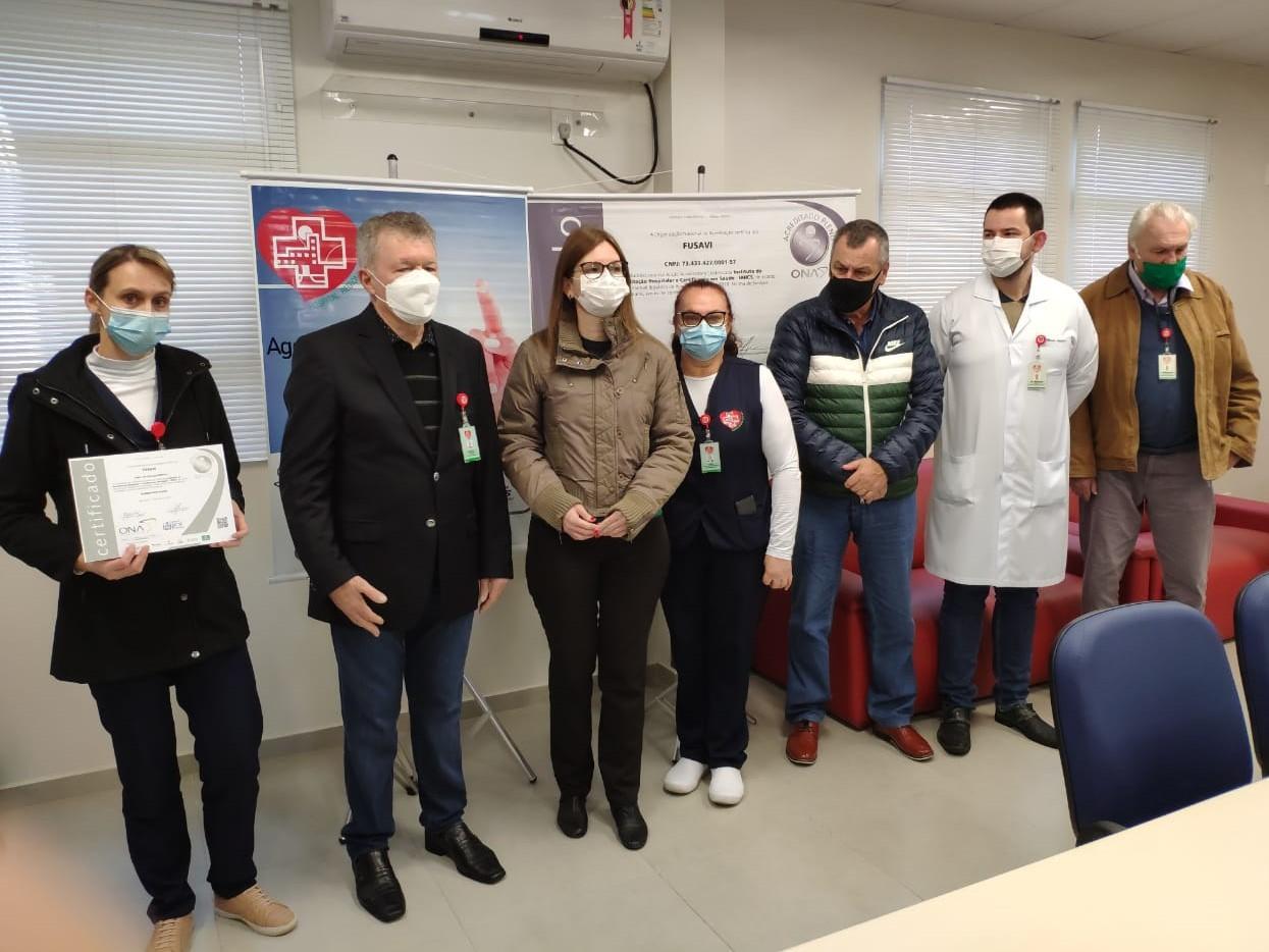 Hospital Regional Alto Vale em Rio do Sul recebe certificado de Acreditado Pleno