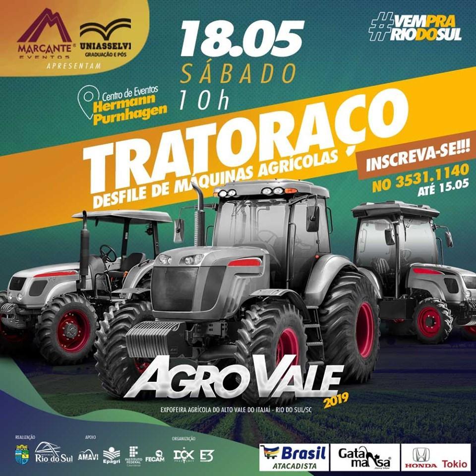 Inscrições para o Desfile de Máquinas Agrícolas da AgroVale em Rio do Sul encerram nesta quarta