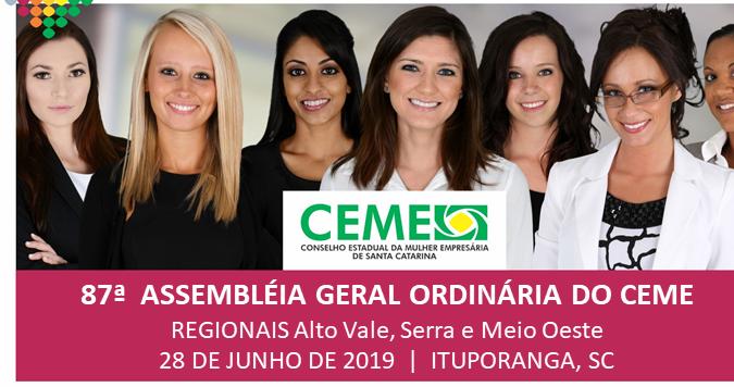 Ituporanga será sede da 87ª Assembleia Geral do Conselho Estadual da Mulher Empresária de Santa Catarina