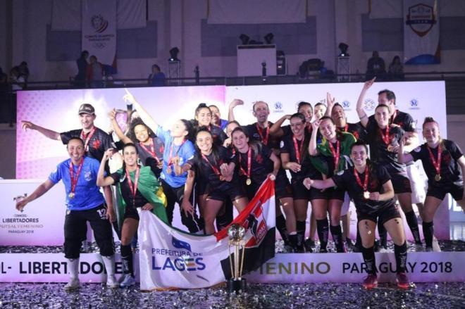 Leoas da Serra, de Lages, conquistam a Libertadores de futsal feminino