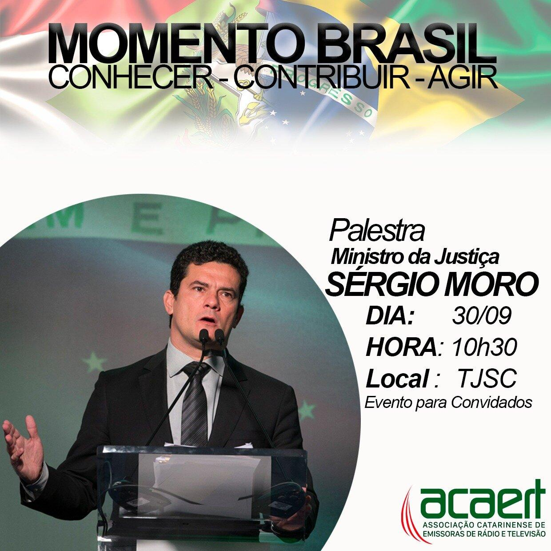 Momento Brasil: Ministro da Justiça participa do evento da ACAERT no dia 30 de setembro em Florianópolis