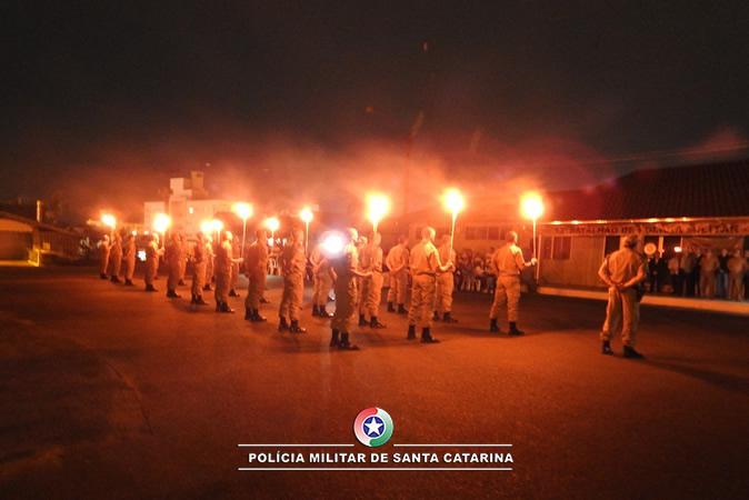 13º BPM realiza solenidade de Formatura do Fogo, em Rio do Sul