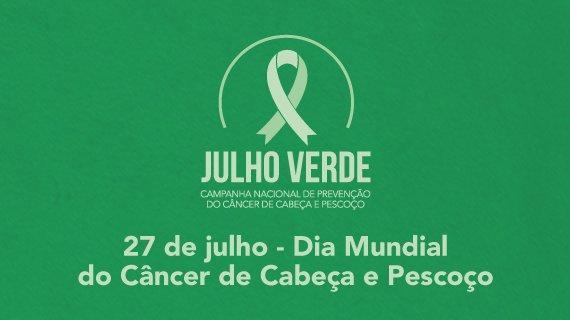 27 de Julho: Hoje é o Dia Mundial de Combate ao Câncer de Cabeça e Pescoço