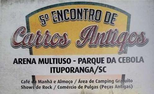 5º Encontro de Carros Antigos é neste final de semana em Ituporanga