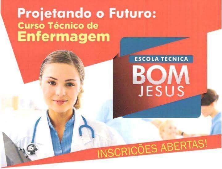 Abertas inscrições para nova turma de Técnico em Enfermagem da Escola Técnica Bom Jesus