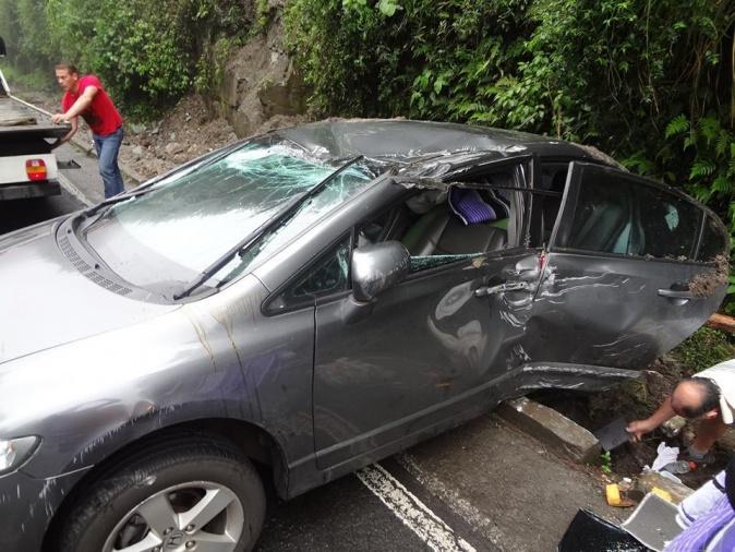 Acidente é registrado na BR-470 em Pouso Redondo neste domingo