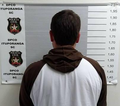 Acusado de homicídio no Espírito Santo é preso em Ituporanga