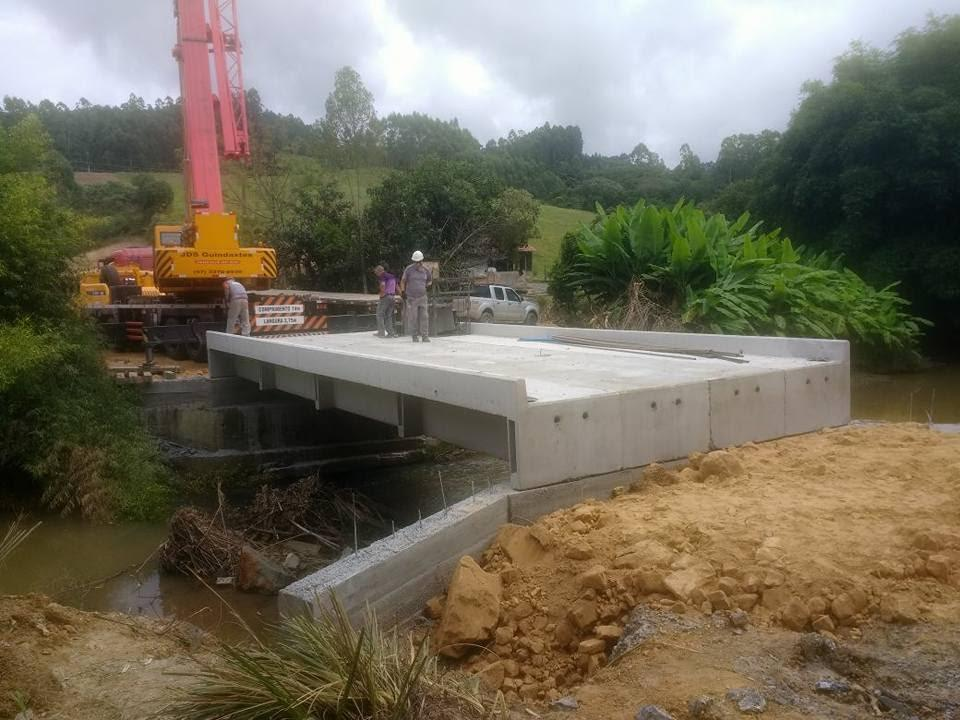 Administração de Vidal Ramos inaugura nova ponte na comunidade de São Domingos