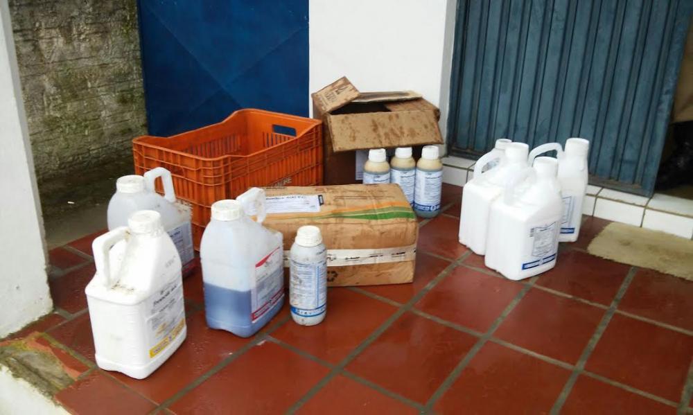 Agrotóxicos são encontrados abandonados em Ituporanga