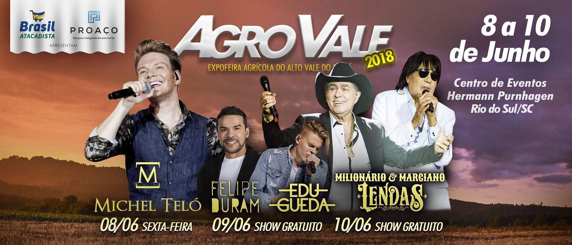 AgroVale será realizada de 08 a 10 de junho, em Rio do Sul
