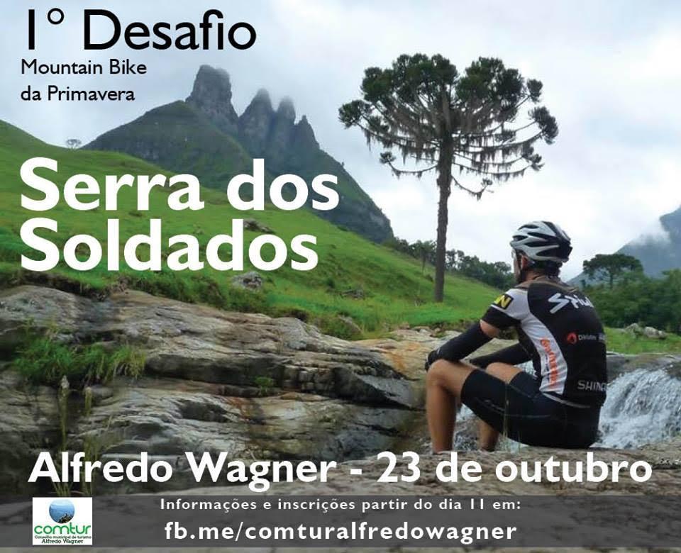 Alfredo Wagner lança o 1° Desafio Mountain Bike de Primavera – Serra dos Soldados