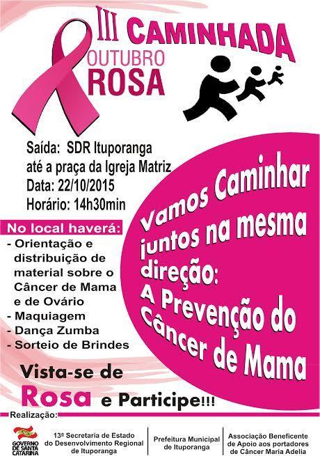 Associação de Apoio aos Portadores de Câncer de Ituporanga realizam ações em alusão ao Outubro Rosa
