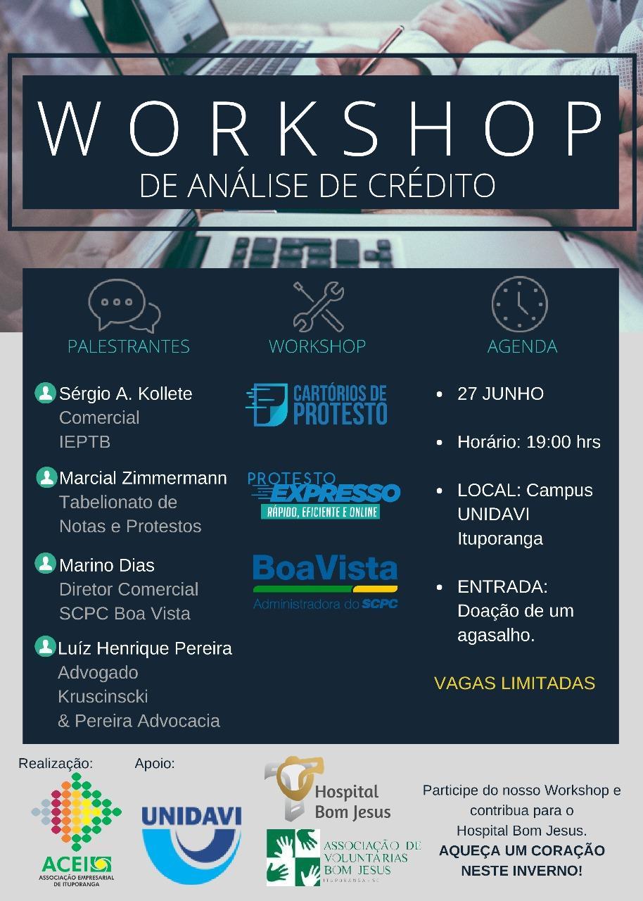 Associação Empresarial de Ituporanga promove Workshop sobre Análise de Crédito