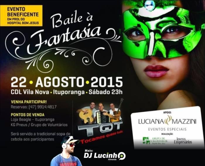 Baile a fantasia em prol do Hospital Bom Jesus será realizado neste sábado em Ituporanga