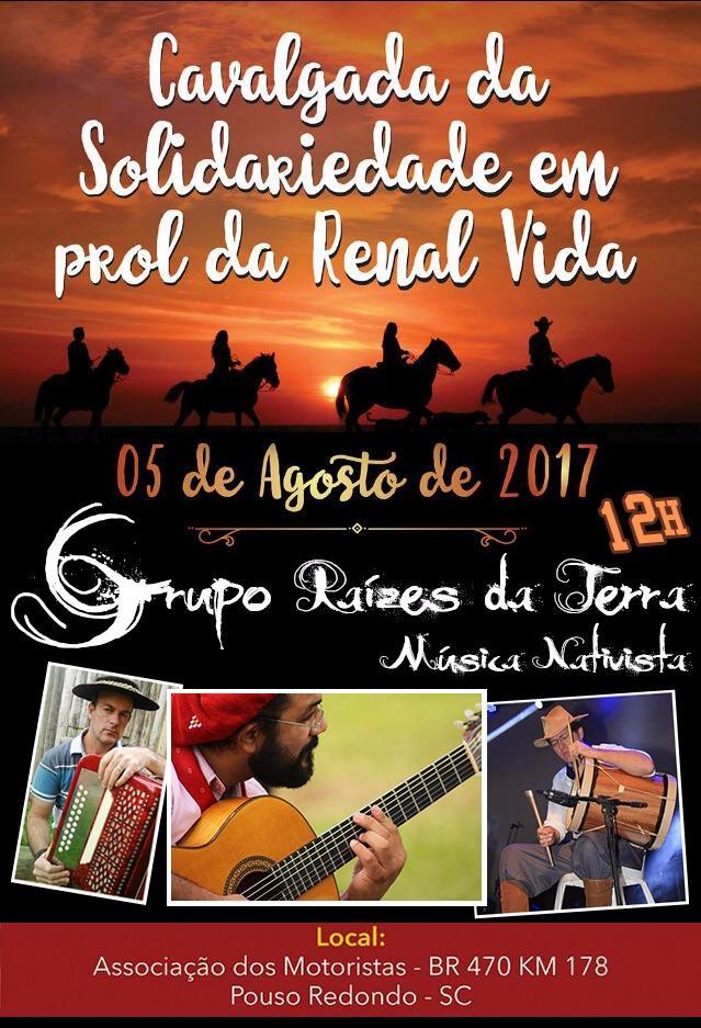 Cavalgada da Solidariedade inicia nesta sexta-feira, em Pouso Redondo