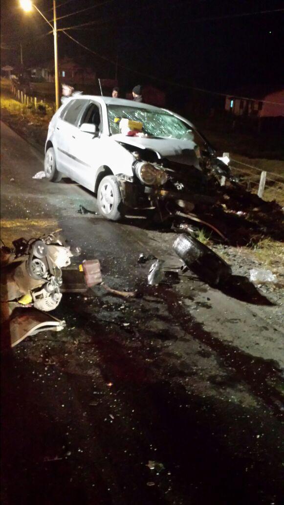 Colisão frontal deixa uma vítima fatal em Ituporanga