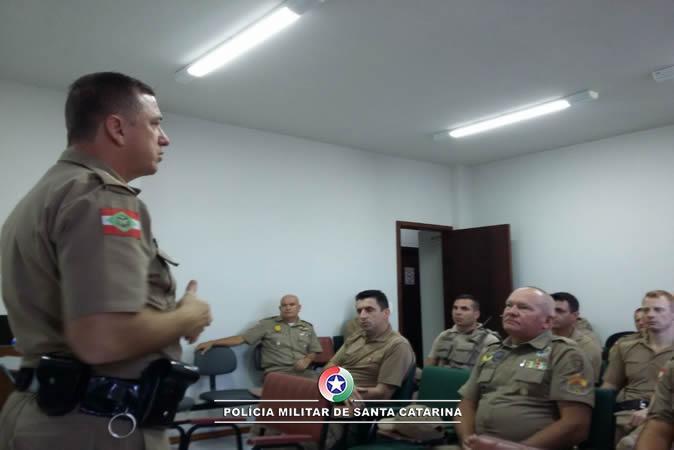 Comandante realiza reunião com o efetivo da 4ª Companhia em Ituporanga
