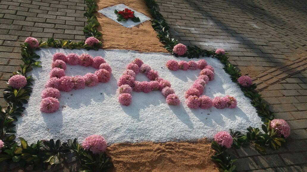 Corpus Christi é celebrado com confecção de tapetes em Ituporanga
