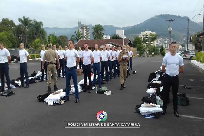 Curso de formação de novos policiais iniciou nesta semana em Rio do Sul